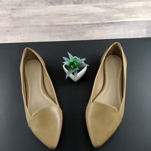 ALDO Camel/Tan Leather Ballet Flats